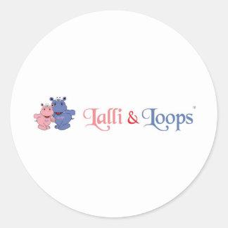 Lalli und Loops Runde Aufkleber