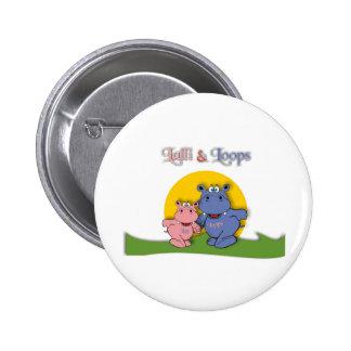 Lalli und Loops Runder Button 5,1 Cm