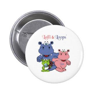 Lalli und Loops Runder Button 5,7 Cm