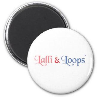 Lalli und Loops Runder Magnet 5,7 Cm