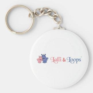 Lalli und Loops Standard Runder Schlüsselanhänger