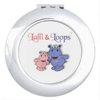 Lalli und Loops Taschenspiegel rund