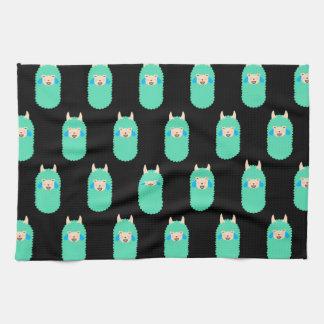 Lama, das Emoji lacht Handtuch