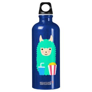 Lama Emoji Film-Liebhaber Aluminiumwasserflasche
