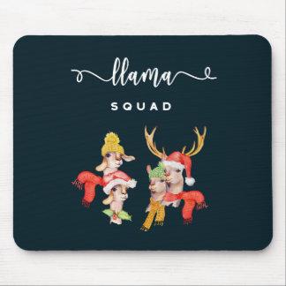 Lama-Gruppe, Weihnachtshut-Aquarell-Kalligraphie Mousepad
