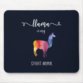 Lama ist mein Geisttier. Lustiger niedlicher Mousepad