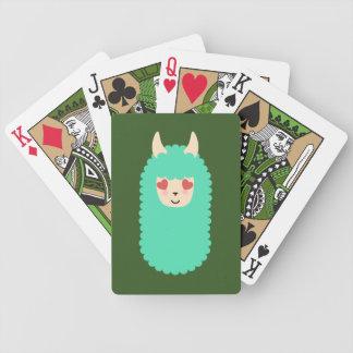 Lama-Liebe Emoji Bicycle Spielkarten