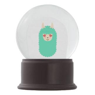 Lama-Liebe Emoji Schneekugel