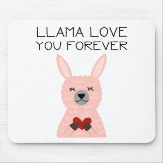 Lama-Liebe Sie für immer Mousepad