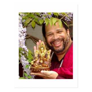 Lama mit grünem Tara - Postkarte