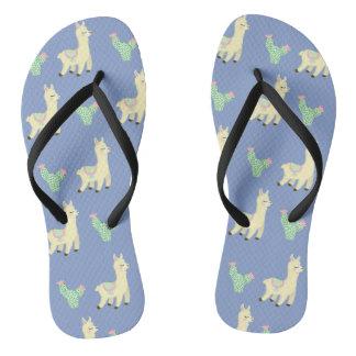 Lama-Muster Flip Flops