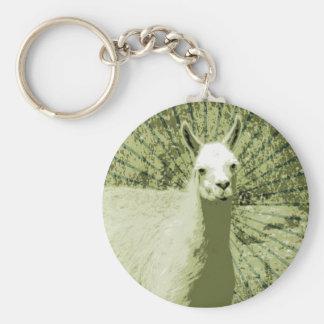 Lama-Pop-Kunst Schlüsselanhänger