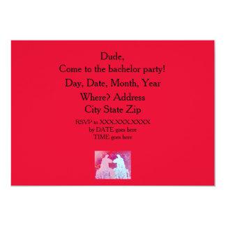 Lamajunggeselle-Party Einladung. Blaues u. rosa 12,7 X 17,8 Cm Einladungskarte