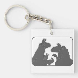 Lamas, Häschen u. Gänse | Weihnachten oder Anyday Schlüsselanhänger