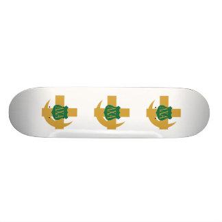 Lambda-Chi-Freundschafts-Button Bedruckte Skateboarddecks