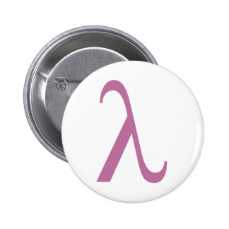 Lambda Runder Button 5,7 Cm