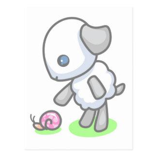 Lamby-Torte snail mail Postkarte