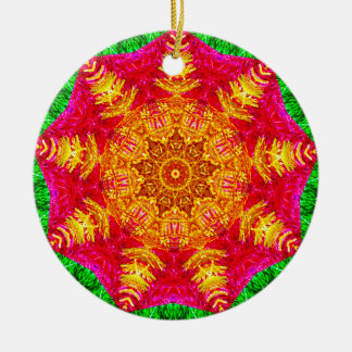 Lametta-Stern-Fraktal Keramik Ornament
