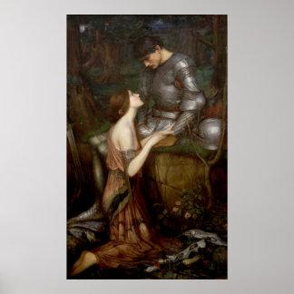 Lamia durch John William Waterhouse Poster