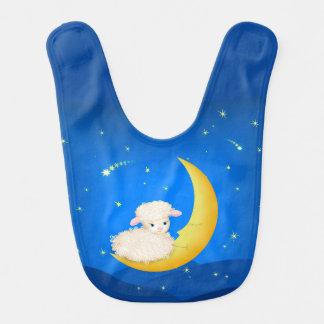 Lamm auf Mond Babylätzchen