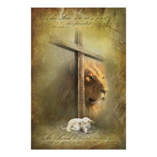 LAMM des GOTTES - christliche religiöse Plakate