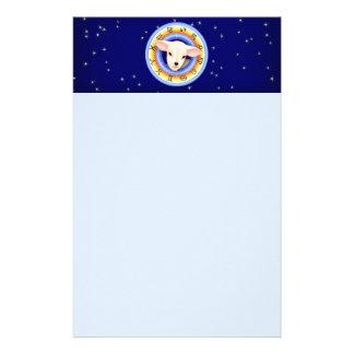 Lamm im Tierkreis-Rad Briefpapier