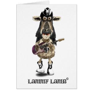 Lammy Lamm ein Schwermetallfelsen SCHAF Grußkarte