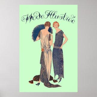 Lamodus illustrée (Zeitschrift français 1922) Poster