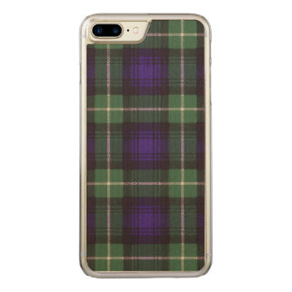 Lamont Clan karierter schottischer Tartan Carved iPhone 8 Plus/7 Plus Hülle