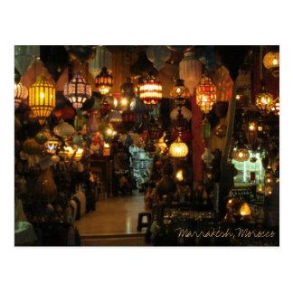 Lampen-Geschäft Marrakeschs Marokko Postkarte