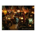 Lampen-Geschäft Marrakeschs Marokko Postkarten