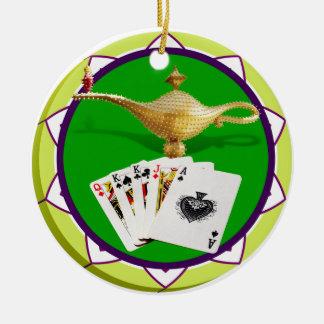 Lampen-Poker-Chip Las Vegas magischer Keramik Ornament