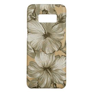 Lanai hawaiischer Hibiskus-Imitat-HolzTaupe Case-Mate Samsung Galaxy S8 Hülle