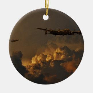 Lancaster-Bomber STURM Rundes Keramik Ornament