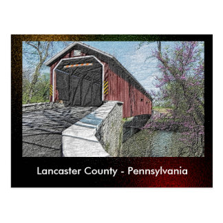 Lancaster County - Pennsylvania - Postkarte