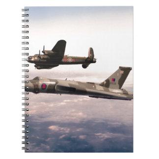 Lancaster und Vulcan Notizblock