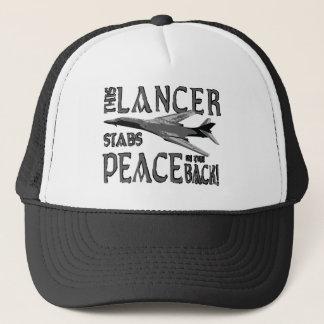 Lancer ersticht Frieden in der Rückseite Truckerkappe