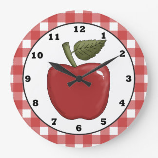 Land-Apple-Cartoonküchen-Wanduhr Große Wanduhr