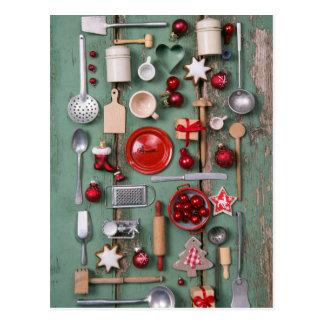 Land-Art-Weihnachten Postkarte