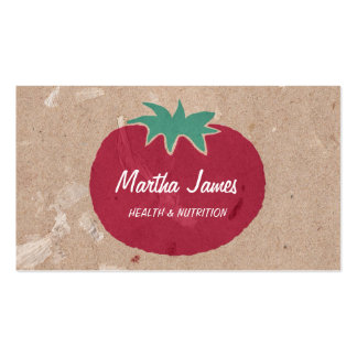 Land-Bio Handwerks-Papier-Tomate-Nahrung Visitenkarten