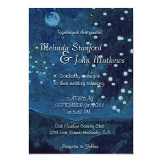 Land-Blau-Nacht der Hochzeits-Einladungs-| Karte