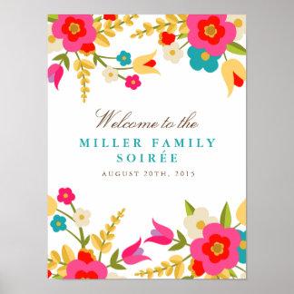 Land-Blumen-Party-Willkommen Poster