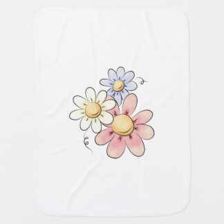 Land-Blumen-weißes Unisex Puckdecke