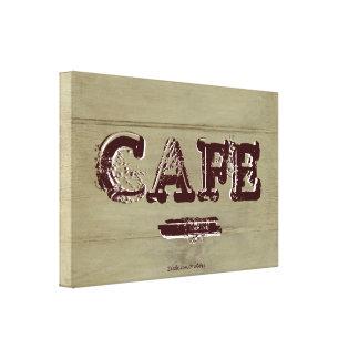 Land-Café-Küchen-Leinwand-Druck verwittertes Gespannte Galeriedrucke