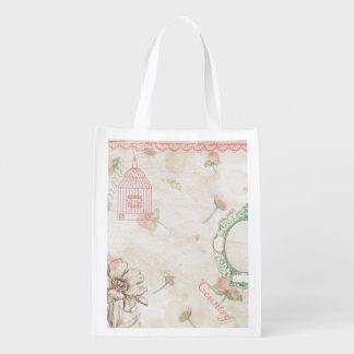 Land-Chic in blassem - Rosa Wiederverwendbare Einkaufstasche