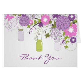 Land-danken rustikales Maurer-Glas Ihnen, Lila zu Karte