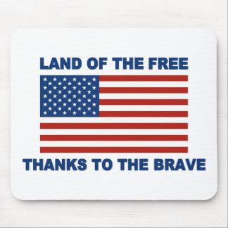 Land der freien dank das tapfere mauspads
