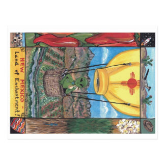"""Land der Verzauberung"" New Mexikopostkarte Postkarte"