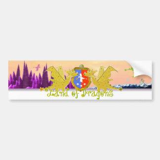Land des Drache-Drache-Wappen Autoaufkleber