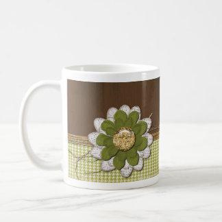 Land-Einklebebuch-Blume Kaffeetasse